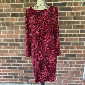 ⬇️$39 NWOT David Meister animal long sleeve dress